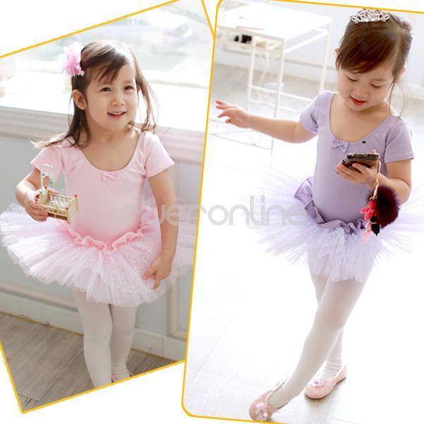 Girls Kids Leotard Skirt Ballet Tutu Dress Dancewear Party Costume Sz 3 8