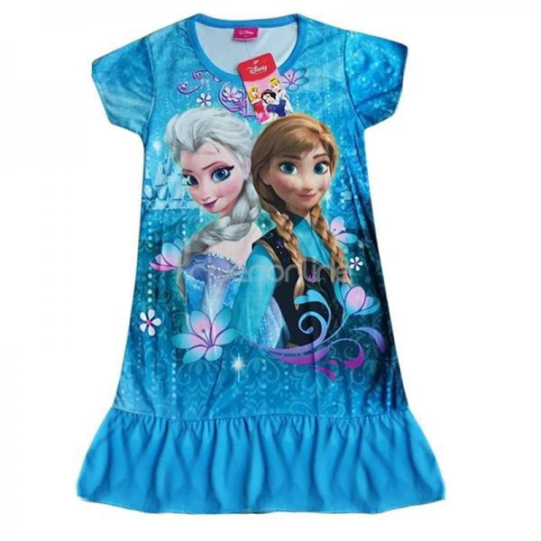 disney frozen eisk nigin anna elsa sommer top kleid shirt m dchen kost m 98 128 ebay. Black Bedroom Furniture Sets. Home Design Ideas