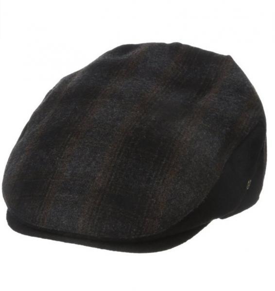 b123d132037a7 Dockers Men s Plaid check wool blend Patterened Ivy Cap black brown s m L xl