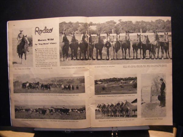 1938 Madison Square Garden Rodeo Program