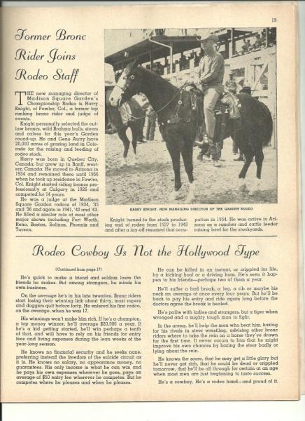 1959 Madison Square Garden Rodeo Program Ebay