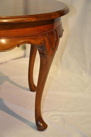 Antique Queen Ann Style Round Mahogany Coffee Table C 1920 39 S Ebay