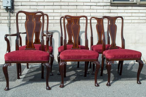 Dining Chairs Mahogany Armchair, Queen Anne Mahogany Dining Chairs