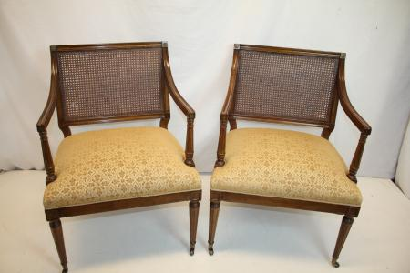 Pair Of Antique French Louis Xvi Fruitwood Living Room Chairs Circa 1930 39 S Ebay