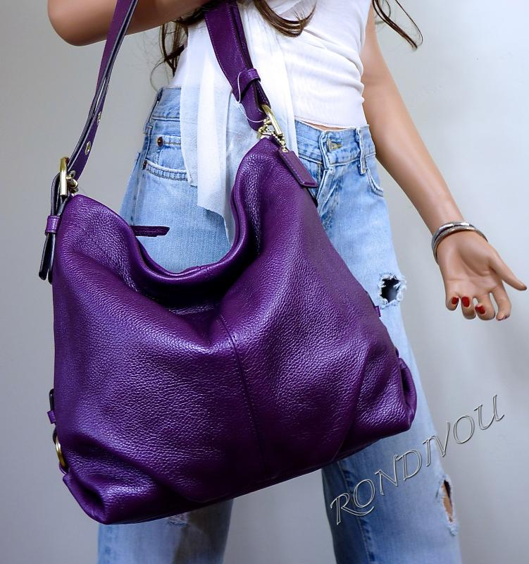 сумка Quilted Nappa : Coach purple shoulder bag mini crossbody