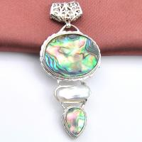 Vintage Handmade White Royal SHELL COQUILLE D/'Haliotide Gems Argent Colliers Pendentifs