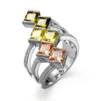 Genuine Morganite Garnet Amethyst Peridot Solid Silver Flower Band Ring Sz 6-10