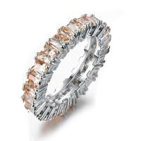 Multi Genuine Honey Champagne Morganite Gems Gold Plated Silver Ring Size 6-10