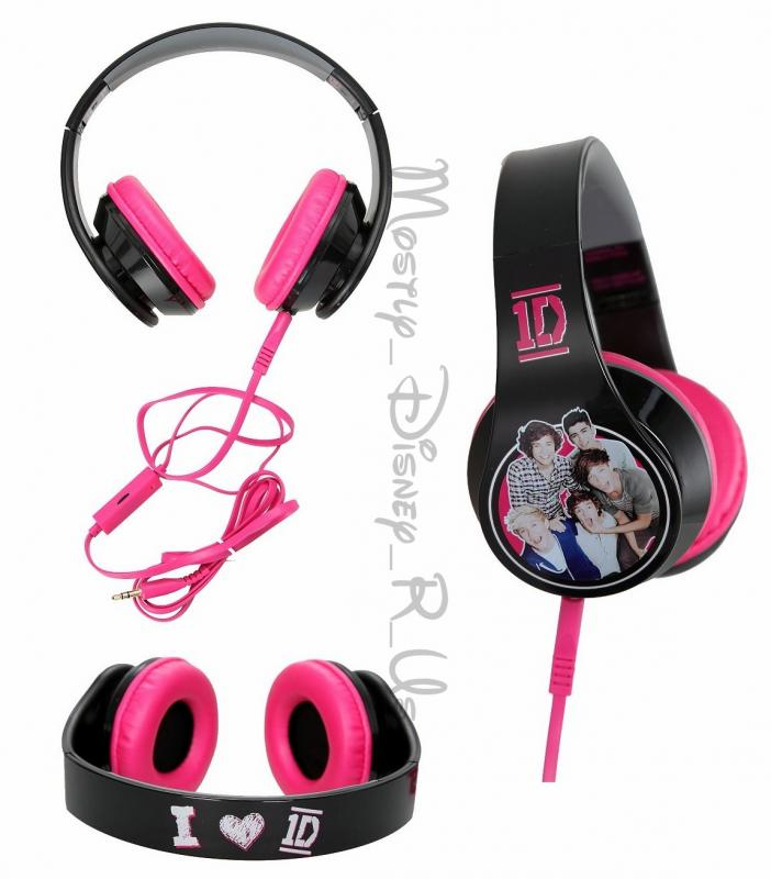 1D One Direction Band Stereo Hadphones Over Ear Harry Louis Zayn Liam Niall New