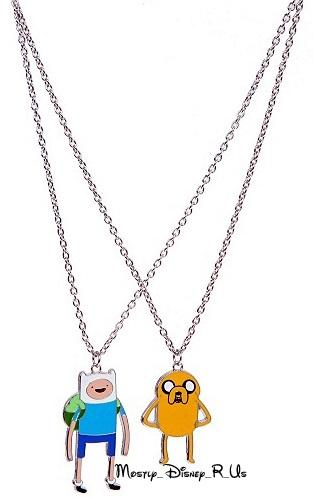 Adventure Time with Finn and Jake Charm Pendant Necklaces 2 Pack Best