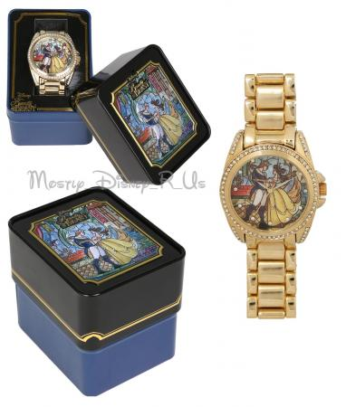 New Disney Beauty and the Beast Stained Glass Watch in a ...
