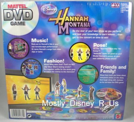 Hannah montana dvd board game disney channel 2007 sealed miley cyrus