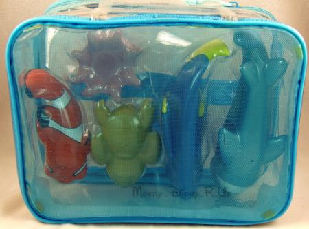 new disney store finding nemo 5 pc bath toys set bruce squirt dory pearl rare ebay. Black Bedroom Furniture Sets. Home Design Ideas