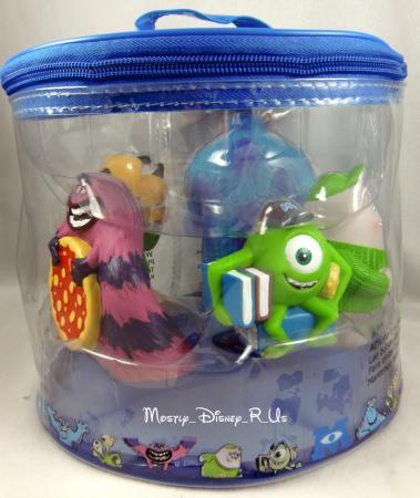 NEW Disney Store Monsters University 5 Bath Toys SET Mike Sulley ART Terry Terri eBay