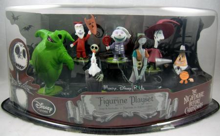 Disney Store Nightmare Before Christmas Jack PVC Figurine Playset Jack ...