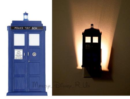 dr who tardis police call box night light phone booth new in box ebay. Black Bedroom Furniture Sets. Home Design Ideas
