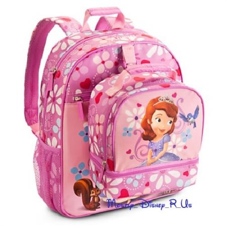 Disney Store Exclusive Sofia the First Backpack Book Bag ...