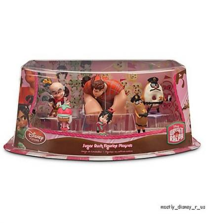 Disney Store Wreck It Ralph Sugar Rush Sugartown PVC Figurine Playset