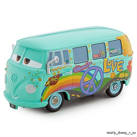 Cars 2 Fillmore VW Van Wagon Diecast New Collector Case