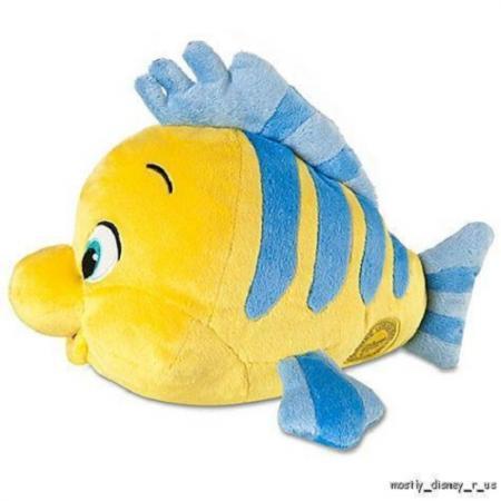 New disney store the little mermaid flounder plush doll 10 for Little fish toys