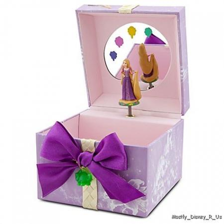 new disney store tangled rapunzel jewelry box with pascal