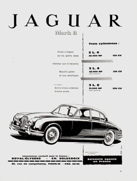 1960   automobile jaguar mark 2