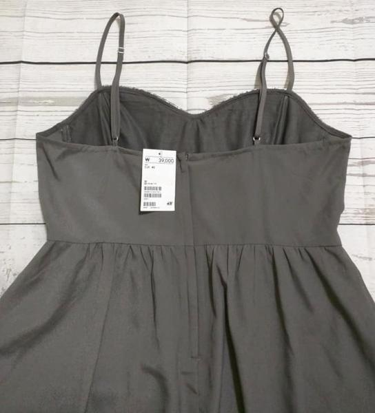 1167a8e9a185e H&M DIVIDED Silver Gray Sequin Embellished Mini Short Dress Size 10 ...