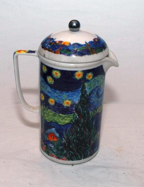 Ceramic Coffee Press By Chaleur http://www.ebay.co.uk/itm/Chaleur-Masters-Collection-Van-Gogh-Starry-Night-Ceramic-COFFEE-PRESS-/271190129940
