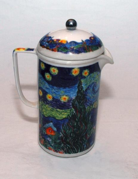 Ceramic Coffee Press By Chaleur http://www.ebay.com/itm/Chaleur-Masters-Collection-Van-Gogh-Starry-Night-Ceramic-COFFEE-PRESS-/271213020436