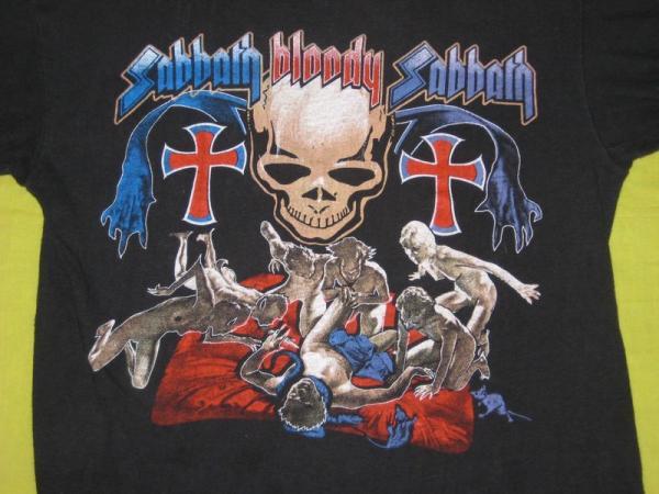 1974 BLACK SABBATH BLOODY VTG TOUR T SHIRT concert ozzy