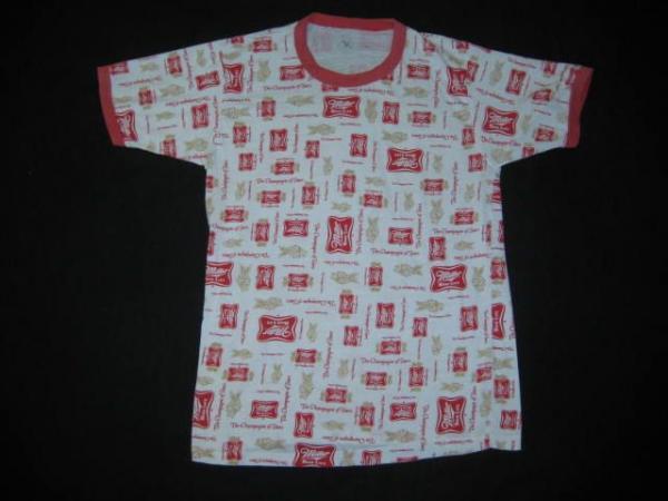 70s miller high life beer allover print vintage t shirt ebay for Vintage miller lite shirt