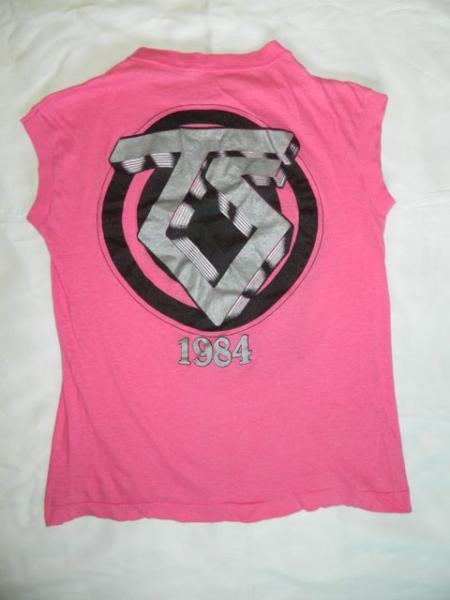 1984 TWISTED SISTER VTG STAY HUNGRY TOUR T SHIRT PINK