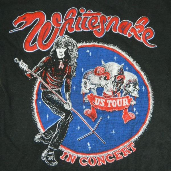 VTG WHITESNAKE 70s TOUR T SHIRT CONCERT led zeppelin