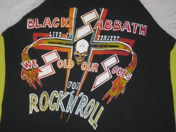 VTG 70s BLACK SABBATH TOUR JERSEY T SHIRT CONCERT RARE