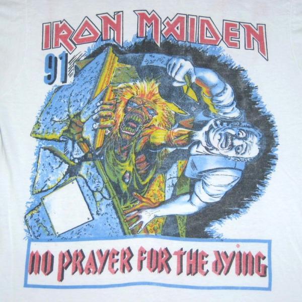 VTG IRON MAIDEN 1991 TOUR T SHIRT ANTHRAX CONCERT RARE