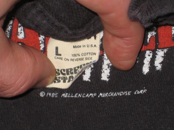 1985 John Cougar Mellencamp Vtg Tour T Shirt Concert OG
