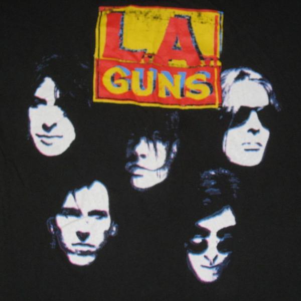 1991 la guns vtg hollywood vampires tour t shirt 80s og ebay. Black Bedroom Furniture Sets. Home Design Ideas
