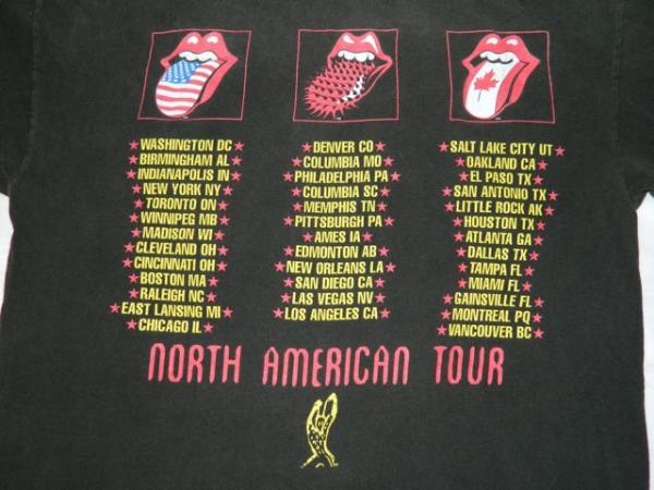 VINTAGE THE ROLLING STONES 1994 VOODOO LOUNGE TOUR T SHIRT 94/95