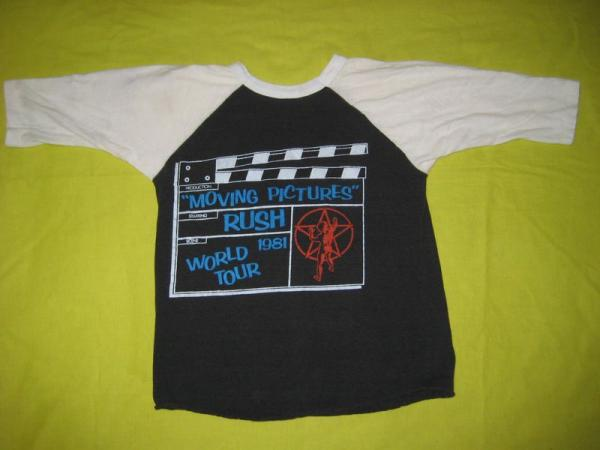 1981 Rush Moving Pictures Vtg Tour Jersey T Shirt OG