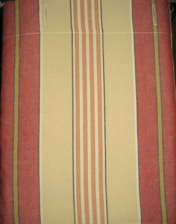 Primitive Country Home Cotton Fabric SHOWER CURTAIN Barn Red Tan Ticking Stri