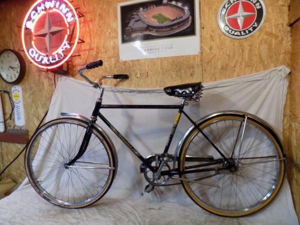 7a68eefef02 1962 SCHWINN TRAVELER MENS 2-SPEED DELUXE BICYCLE VINTAGE RACER ...