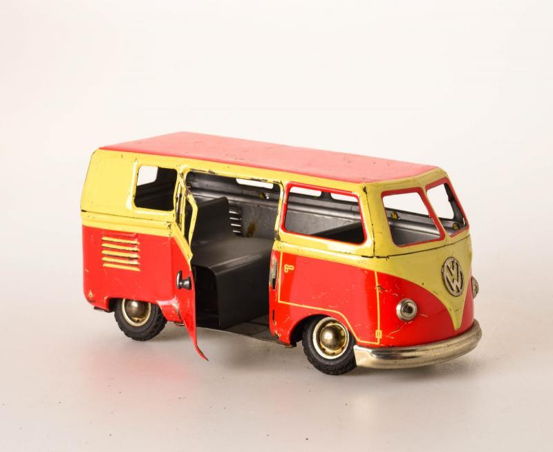 antique tin toy goso germany vw volkswagen transporter bully van bulli car ebay. Black Bedroom Furniture Sets. Home Design Ideas