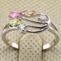 Size 6~9 Classy Jewelry Multi-Color CZ Gold Filled Cocktail Ring Gift rj1465