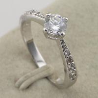 Size 5 7 Shiny Nice White CZ Fashion Jewelry Gift White Gold Filled Ring rj491