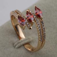 Size 5.5~9.5 Stylish Red Garnet Fashion Jewelry Gift Gold Filled Ring rj2065