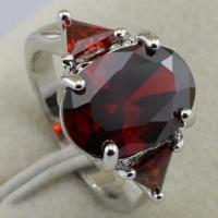 Size 6~9 Breathtaking Red Ruby Fashion Jewelry Gift Gold Filled Ring rj2033