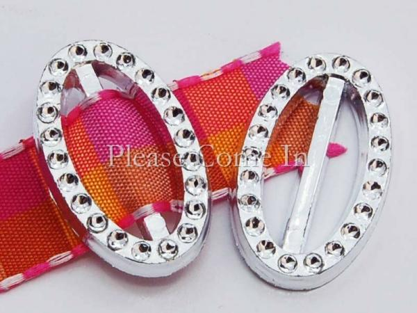 20 Acrylic Oval Ribbon Buckle Ribbon Slider #3