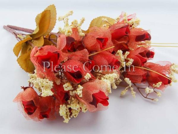 180 Artificial Dark Red Chiffon Rose Wedding/Home Decorations