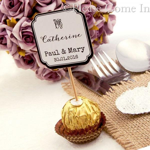 DIY Personalized Double Sided White Wedding Cupcake Topper ...