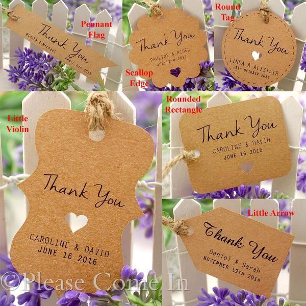 Wedding Gift Tag Malaysia : ... Kraft Wedding Favour Tags/ Thank You Tag/ Gift Tag with Twine eBay